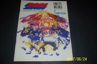 1970 CHICAGO BEARS vs BALTIMORE COLTS Official Program With TICKET STUB Butkus
