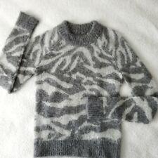 Mohair Blend size XS ALLSAINTS Women/'s QUANT Cropped Tiger Jumper