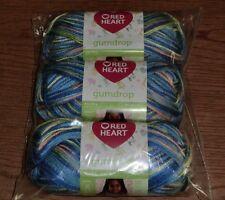 Red Heart Gumdrop Yarn, Lot of 3 Skeins, 4 oz / 204 yds ea, *You Choose Color*