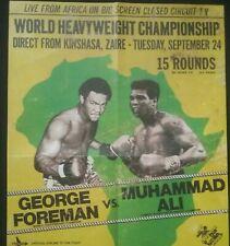 """George Foreman V Muhammad Ali * Rumble en la jungla 1974: (16"""" X 11"""" cartel)"""
