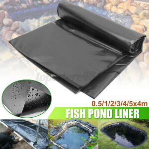 6 Size HDPE Fish Pond Liner Gardens Pools Membrane Reinforced Landscaping 0.12mm