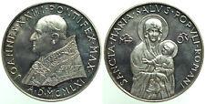 Medaglia STRAORDINARIA Papa Giovanni XXIII Salus Populi Romani AD 1961 Ag mm44