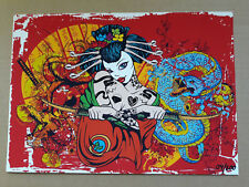 Ink Japanese Samurai Girl DIN A4 Poster – LIMITED EDITION