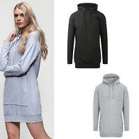 Awdis Just Hoods Women's/Ladies Hoodie JH015 - Kangaroo Pocket Cotton Long Dress