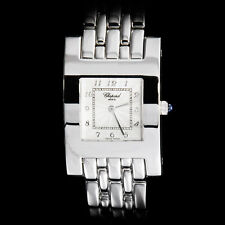 Chopard 18K White Gold Ladies Classique Special H Bracelet Watch. Stunning