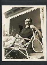 JOHN BOLES WITH TENNIS RAQUET - 1936 DBLWT BY RAY JONES - CRAIG'S WIFE
