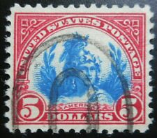 U.S. Stamps: Scott #573a, $5, Carm Lake & Blue, The Regular Issue, of 1922-1925