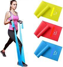 U.S. Seller Set of 3 Latex Elastic Exercise Yoga Stretch Band for Yoga, Pilates
