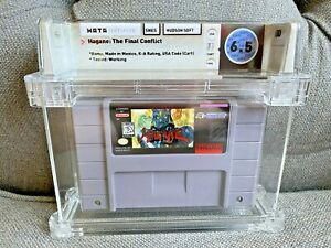 1995 SNES Super Nintendo Hagane: The Final Conflict Graded WATA 6.5 Cart Only