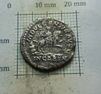 Original Antique Coin SILVER Caracalla  ROMAN DENARIUS 198-217 A.D  # 0143