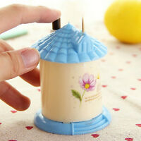 Toothpick Automatic Holder Box Dispenser Home Barrel Decor House Shaped Filmy