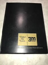 VINTAGE OLD LOGO UNITED AIRLINES & 3M VINYL MEETING FOLIO
