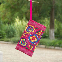 Women Ethnic Handmade Embroidered Wristlet Clutch Bag Vintage Purse Wallet Tote