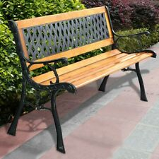 Outdoor Cast Iron Patio Park Garden Porch Chair Bench Lawn Deck
