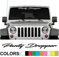 "Panty Dropper ""Script"" Windshield Decal Sticker Diesel Turbo UTV ATV Car Truck"
