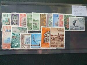 Ceylon 1958/62 definitives set of 17, hinged mint