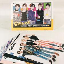 SHINEE Post Card 12 pcs + Sticker 3 pcs Set KPOP SHINEE 샤이니
