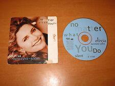 OLIVIA NEWTON-JOHN - NO MATTER WHAT YOU DO CD SINGLE 2 TRACKS CARD SLEEVE