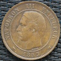 FRANCE 10 CENTIMES NAPOLÉON III 1853 K   F.133