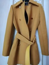 Dolce & Gabbana mustard-colored wool coat with belt Italy authentic