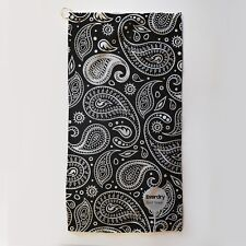Golf Towel Everdry Microfiber Plus - Black White Paisley - 63x30cm - Great Gift