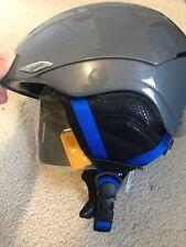 New Smith Sequel Ski Snowboard Helmet Mens Small 51- 55 Cm Charcoal Gray Blue