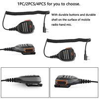 Handheld Speaker Microphone IP54 Waterproof Fit Linton Kenwood Baofeng TK-U100 B