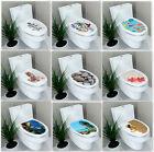 UK Stock Toilet Seat Wall Sticker Bathroom Decoration Decal Vinyl Mural Decor