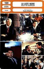 Movie Card. Fiche Cinéma. La liste noire (U.S.A.) Irwin Winkler 1991