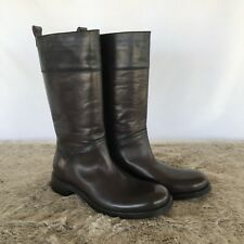 Costume National Homme High Two Tone Mens Leather Boots Size 7 Made In Italy New
