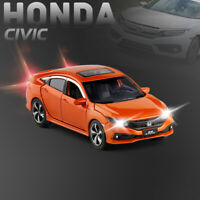 Honda 10th Civic 1:32 Diecast Model Car Toy Collection Light&Sound Best Gift