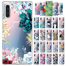 Cute Pattern TPU Soft Silicone Clear Case Cover For Samsung Galaxy Note 10/Plus