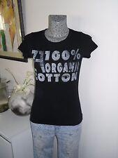 t tee shirt de marque ZARA taille M 38 40 noir mode haut top maillot polo d'été
