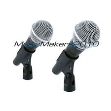 TWO Shure SM58 Dynamic Vocal Microphones 2 SM58LC SM-58 2pk + Free U.S. Shipping