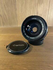 CLA'd : Near Mint Canon FD 28mm F/2 SSC S.S.C Wide Angle MF Lens From Japan