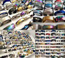 NEW 100pcs MIX LOT Stainless Steel rings Wholesale Men Women Fashion Jewelry lot