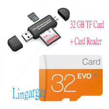 32GB MicroSD Class 6 TF Flash Memory Card with SD Adapter W/ 2 in 1 Card Reader