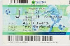 Sammler Used Ticket / Entrada AZ Alkmaar v FC Twente Enschede 13-05-07 Play-Off