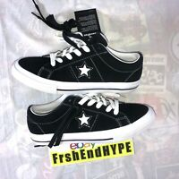 Converse One Star Low OX Size 6 Black & White Skating Shoes Gum Bottom NEW