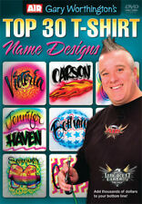 Airbrush Action DVD-Top 30 T-shirt nome Designs con Gary Worthington