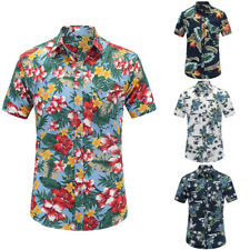 Men's Hawaiian Ahola Shirt Short Sleeve Casual Floral Print Beach Party Shirts