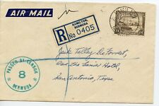 BERMUDA 1939 Registered cover PASSED BY CENSOR/8/ BERMUDA  to Texas USA