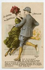 WW1. POILU . Charme. LA GUERRE EN DENTELLES. L'Artilleur  . Military charm