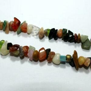 MultiColor Stone Chips 2 Strings, 5-8mm, Approx 255  Pcs FOR JEWEL
