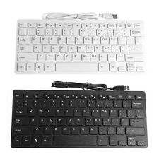 Slim Mini Multimedia USB Wired External Keyboard For Notebook Laptop PC Computer