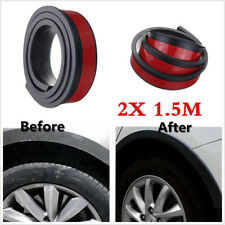Black 2X 1.5M Car Body Fenders Flares Wheel Eyebrow Strip Protector Moulding