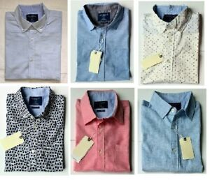 Men's Short Sleeves Oxford & Linen Look Smart Casual Summer Shirts From £6.99