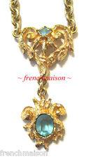 AUTHENTIC Christian Lacroix Gold Necklace Vintage Heart Dangle WORN PARIS MODEL