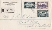 AIM164/5) Lebanon 1938 pair of Surface Mail covers, olne registered