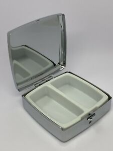 Silver Square Pill, Medication, Tablet, Boxes (2 Compartments), Push Button open